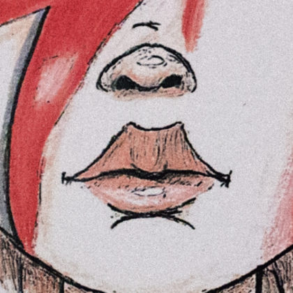 Illustration Segment - Bowie Girl - Red White