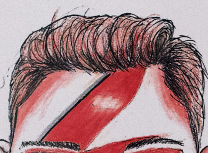 Illustration Segment - Bowie Girl - Red White - head - Eyes