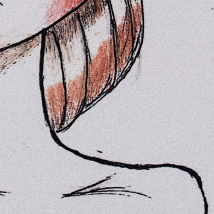 Illustration Segment - Bowie Girl - Close Up