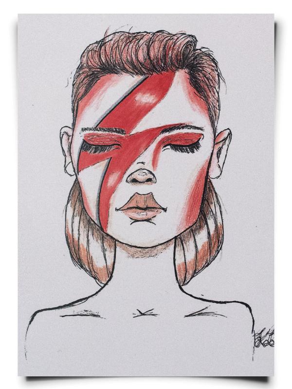 fox-from-mars_illustration_david_bowie_girl_hochformat
