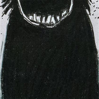 Illustration des Babadook. Teilausschnitt des Gesamtwerks.