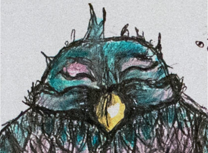 fox_from_mars_illustration_maedchen_mit_vogel_als_hut_ausschnitt_02